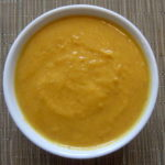 Healthy roasted butternut squash soup