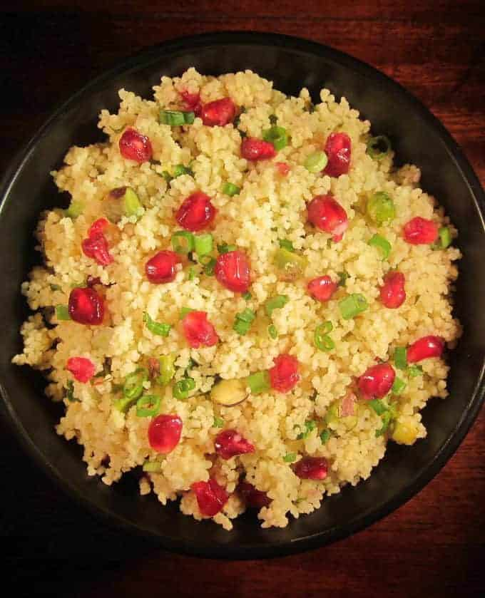 Pomegranate Chicken With Almond Couscous Recipe: Pomegranate And Pistachio Couscous. Easy Couscous