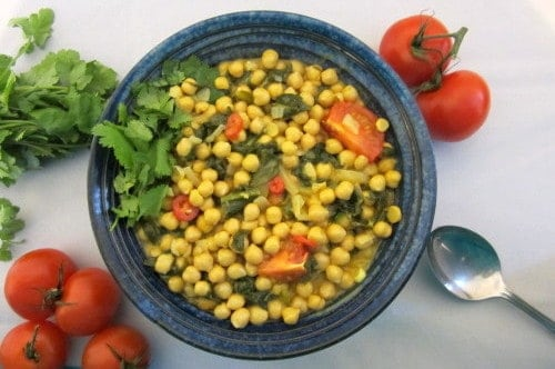 Wild Garlic and Chickpea Curry