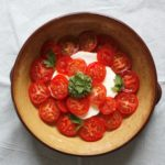 Mozzarella and Tomato Salad with Parsley Pesto
