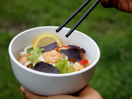 Prawn and Coconut Noodles
