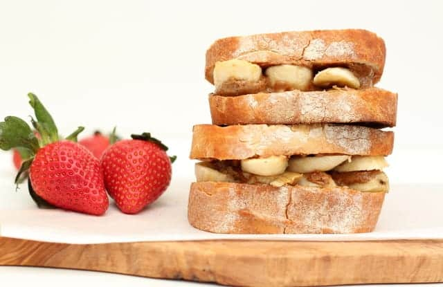 Grilled almond butter honey banana sandwich @ Recipes From A Pantry