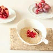 Superfood Breakfast – Almond Porridge with Pomegranate