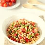 Baharat Spiced Summer Chickpea Salad