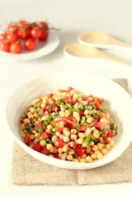 Baharat Spiced Summer Chickpea Salad