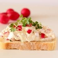 Open Faced Radish Cream Cheese Sandwich – The Radish 'Smørrebrød'