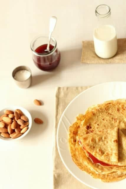 Almond Wholemeal Crêpes
