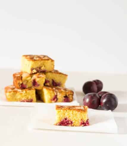 Almond, Orange and Plum Cake