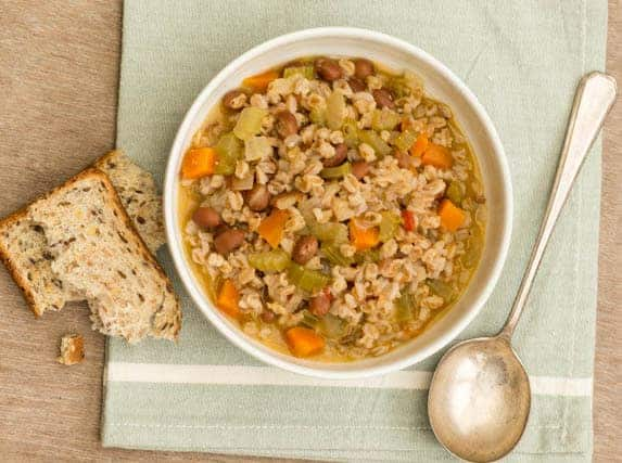 bean and farro soup 2 3 cup olive oil plus extra skillet farro ...