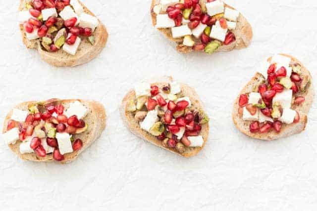 Pomegranate Crostini Recipe @ Recipes From A Pantry