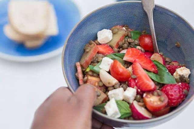 Maple Rhubarb Salad   Recipes From A Pantry