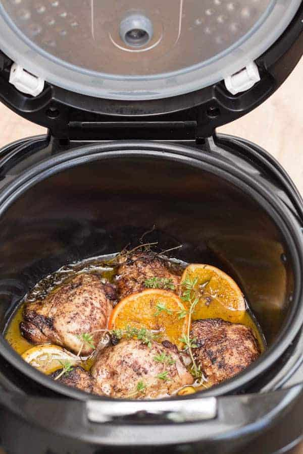 Spiced Lemon Crockpot Chicken Thighs   Recipes From A Pantry