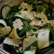 Raw Courgette Salad with Almonds and Västerbottensost