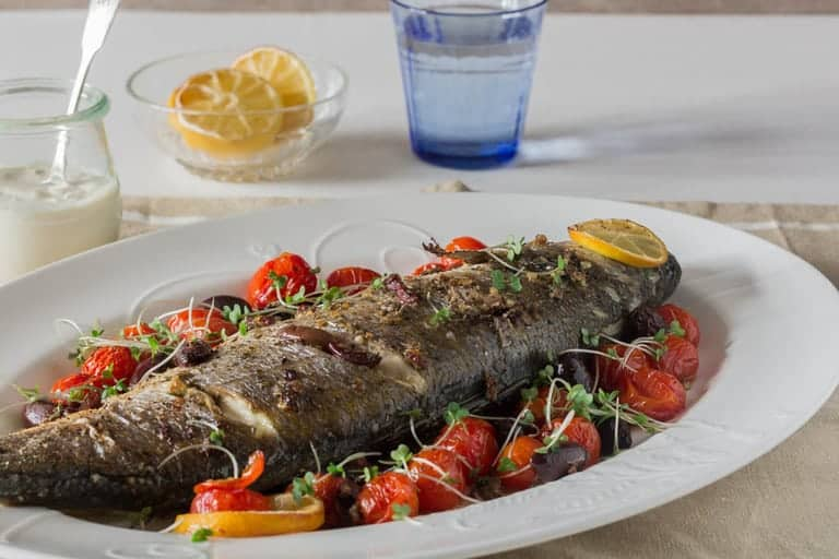 Whole Baked Sea Bass Recipe| Recipes From A Pantry