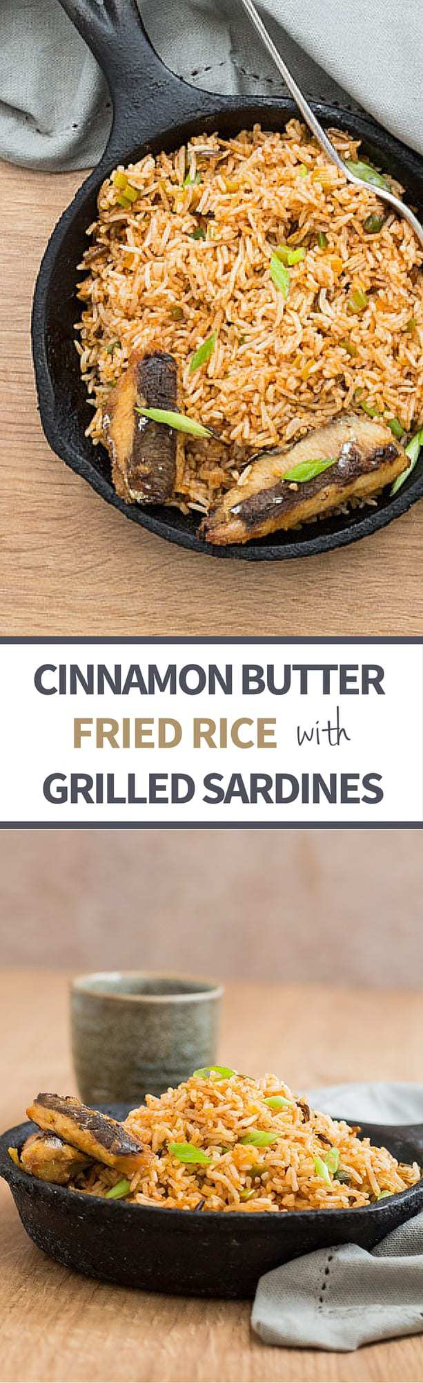 Quick Cinnamon Butter Fried Rice With Grilled Sardines - Recipes From A Pantry
