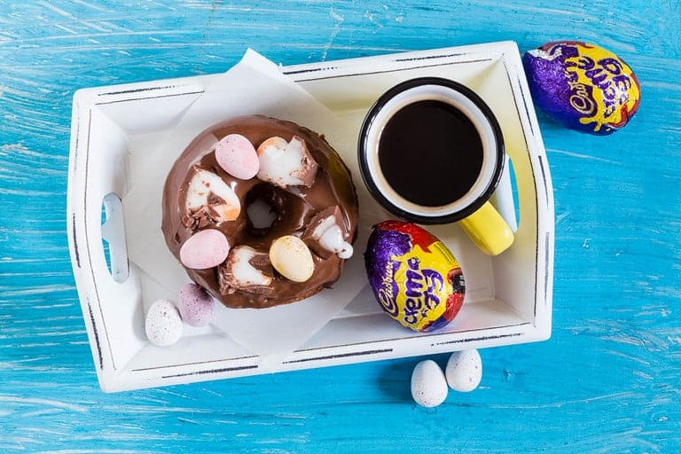 Baked nutella creme egg doughnuts recipe - Recipes From A Pantry