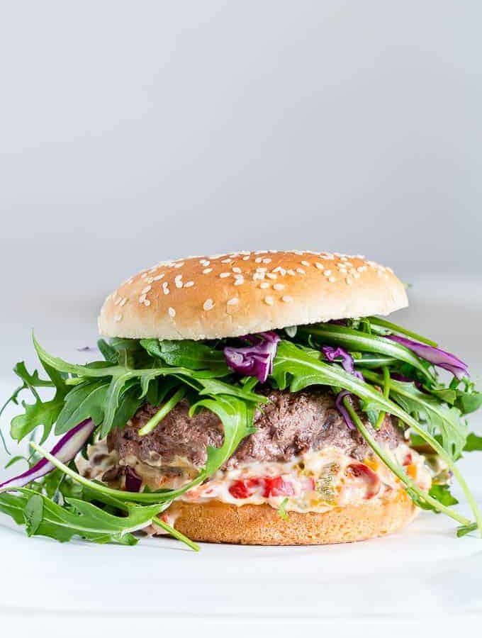 beef burger with chunky pepper mayonnaise-36 | Recipes From A Pantry