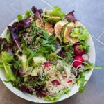 Fig, fennel, radish noodle salad with salsa verde dressing- | Recipes From A Pantry