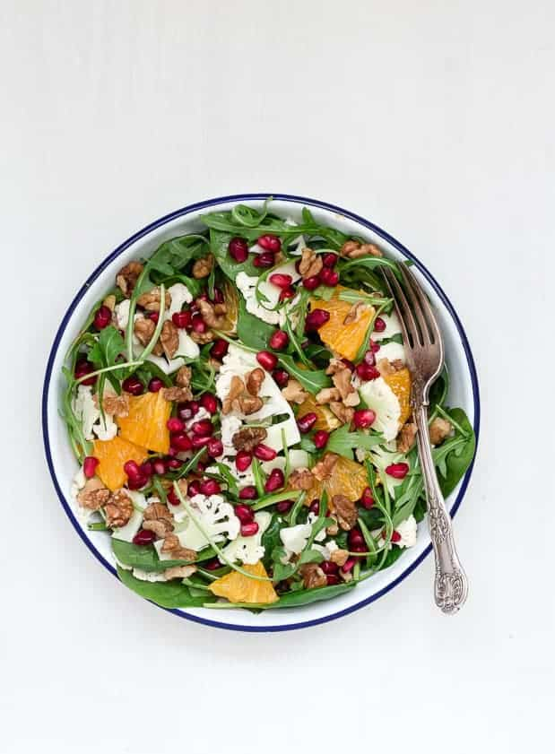 Shaved Cauliflower And Orange Salad With An Orange Tahini Dressing {GF ...