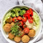 Baked Quinoa Falafels With An Orange Tahini Dressing (GF and Vegan) #PowerOfFrozen