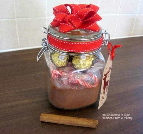 Jarred Christmas Gifts: Hot Chocolate In A Jar