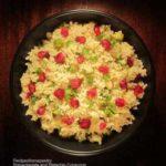 Pomegranate and pistachio couscous. Easy couscous