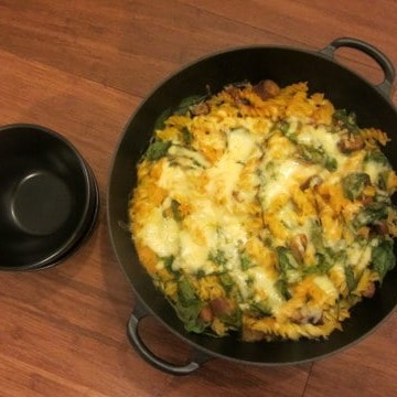 Healthy baked pasta