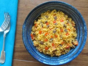 Beef and pepper couscous