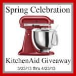 KitchenAid Mixer Giveaway – Let's Celebrate Spring
