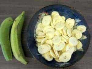 image showing how to prepare plantain chips