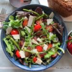 Roasted Asparagus Salad with Grapes