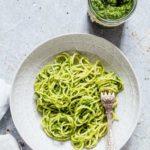 Homemade basil pesto sauce is super easy to make. This recipe is made with basil, parmesan, garlic, nuts and olive oil. recipesfromapantry.com