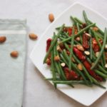 Green Bean, Roasted Vegetables and Almond Salad