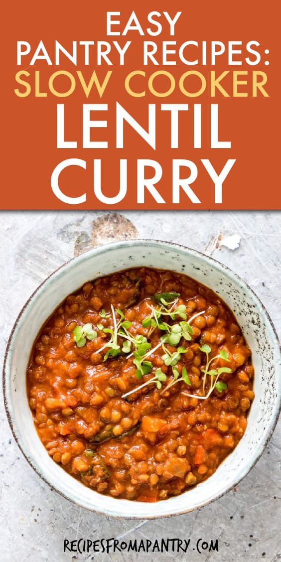 a pot full of lentil curry with spinach