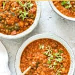 delicious curry lentil in a bowl