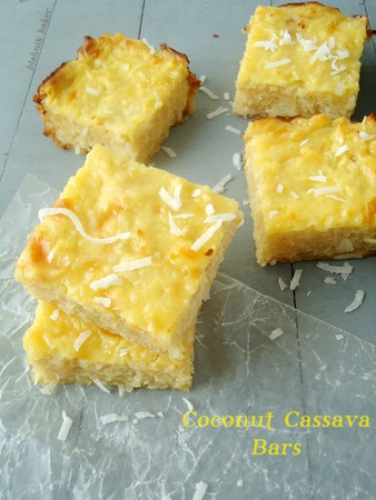 Coconut cassava bars @ Recipes From A Pantry
