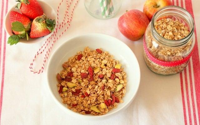 Goji berry pistachio granola recipe @ Recipes From A Pantry