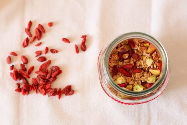 Goji berry pistachio granola @ Recipes From A Pantry