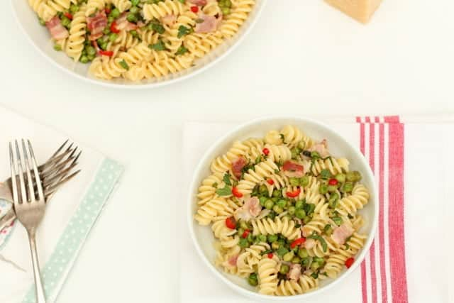 Pea and Bacon Pasta @ Recipes From A Pantry