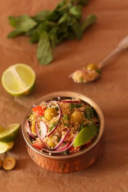 Lime mint and olive quinoa salad @ Recipes From A Pantry