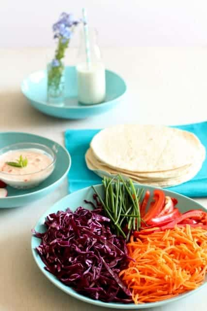 Rainbow Vegetable Wrap @ Recipes From A Pantry