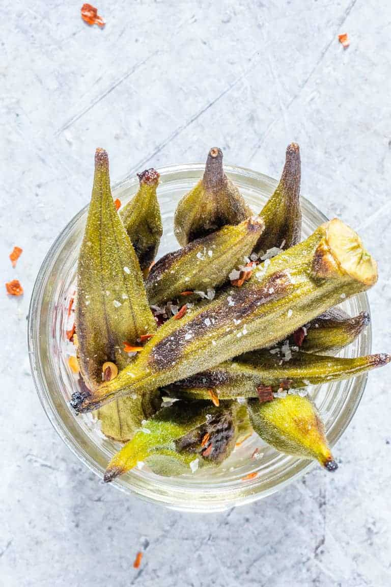 Crispy Roasted Okra Recipe Recipes From A Pantry