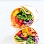 Vegan Rainbow VegetableTortilla Wrap {Gluten-Free, Vegan}