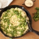 Herbed Cauliflower 'Rice' with Tahini Yoghurt {Gluten-Free}