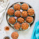 Gluten Free Zucchini Muffins {Courgette Muffins)