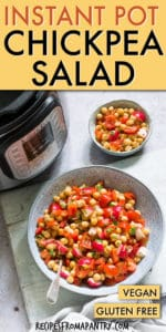 INSTANT POT CHICKPEA SALAD