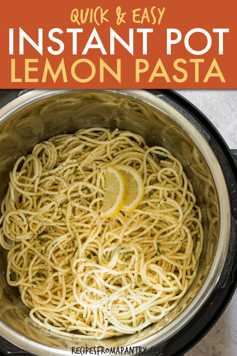 lemon pasta in an instant pot