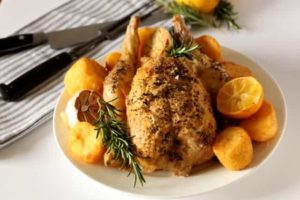 Roast Chicken Recipe @ Recipes From A Pantry