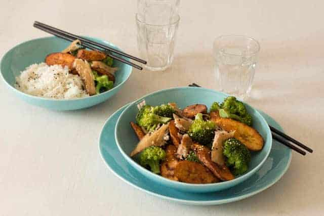 Broccoli and Plantain Stir Fry @ Recipes From A Pantry