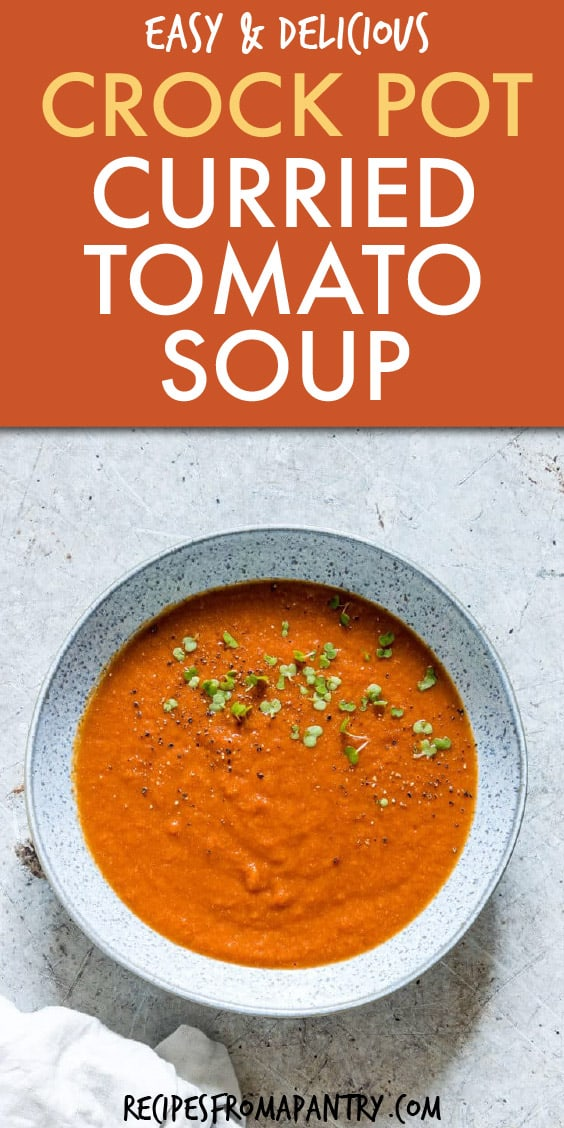 CROCK POT CURRIED TOMATO SOUP